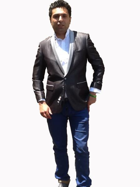 Black One Button Style Bright Mens Sport Coat, act now only $149.00