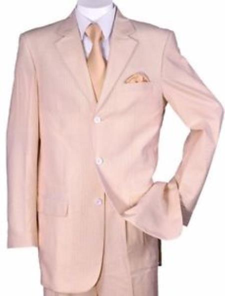 Peach Three Button Style Summer Mens Seersucker Suit, act now only $125.00