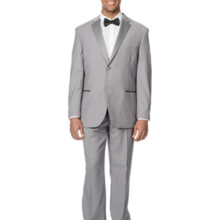 Light Grey Slim Narrow Fit Suit For Mens, act now only $135.00