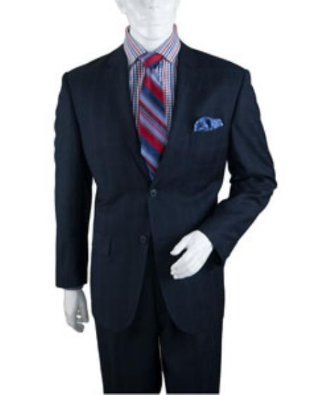 Two Button Style Navy  Windowpane Mens Suit, act now only $125.00