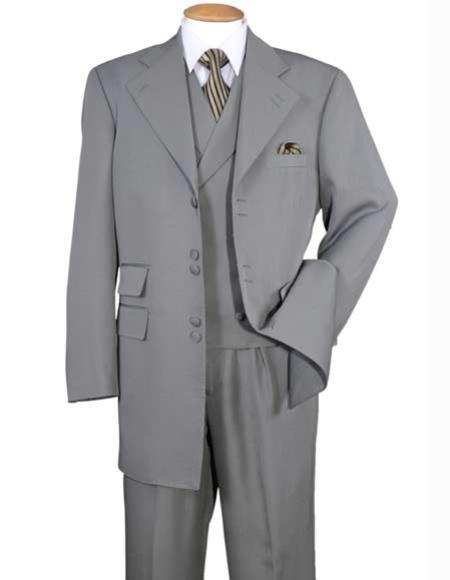 Mens Notch Lapel Gray Six Button Double Breasted Zoot Suit, act now only $149.00
