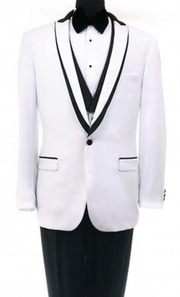 One Button Mens Shawl collar White Tuxedo, act now only $199.00