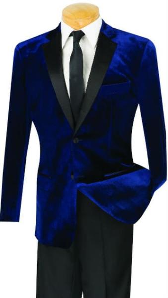 One Button Mens Navy Slim Fit Velvet Tuxedo, act now only $199.00
