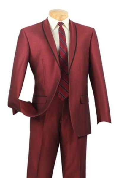 One Button Maroon narrow Style Slim Fit Mens Suit, act now only $250.00