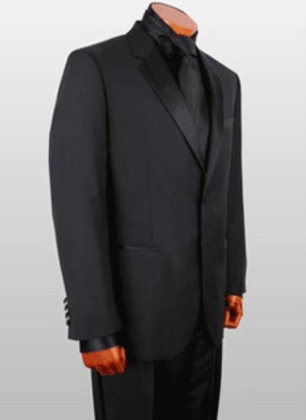 Black With Satin Mens Three Button Style Suit, act now only $475.00