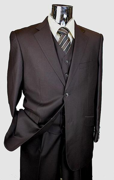 Two Button Style Three Piece Mens Suit In Brown, act now only $199.00