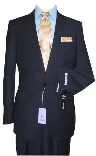 Navy One Button Vented Wool Suit For Mens, act now only $160.00