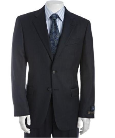 Two Button Style Navy Single Pleated Mens Suit, act now only $225.00