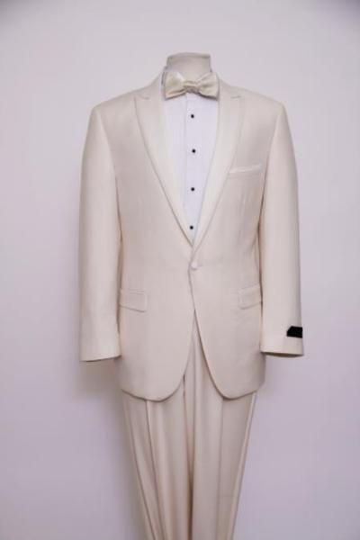 Off White One Button Style Slim Suit For Mens, act now only $165.00