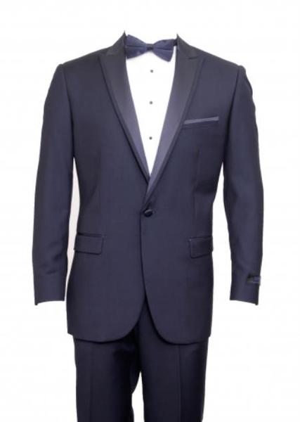 One Cover Button Mens Navy skinny Slim narrow Style Suit, act now only $165.00