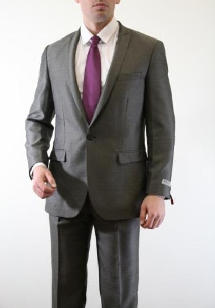 One Button Mens  Slate Two Piece Slim Fit Suit, act now only $150.00