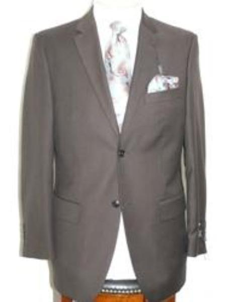 Three Button Style Mens Solid Brown Color Suit, act now only $129.00
