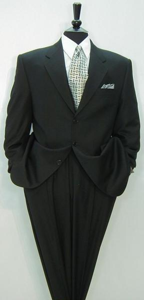 Mens Black Three Button Style Notch Lapel Suit, act now only $199.00