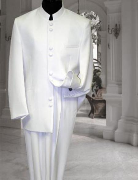 Mens Cream Ivory Mandarin Suit In Off White, act now only $139.00