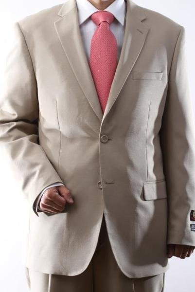 Two Button Style single breasted  Beige Mens Suit, act now only $99.00
