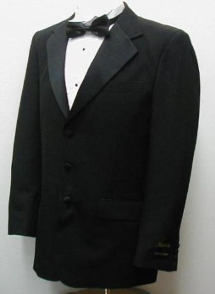 Three Button Style Liquid Jet Black  Mens Suit, act now only $99.00
