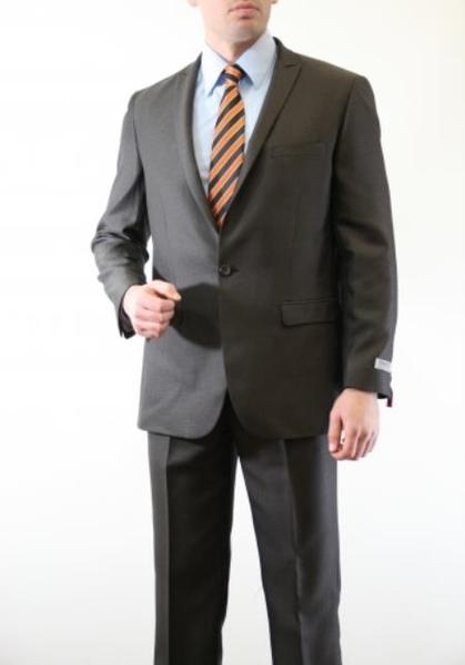 One Button Two Piece Slim narrow Style Fit Mens Suit In Brown, act now only $150.00