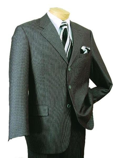 Single Breasted  Gray Mens Three Button Style Suit, act now only $109.00