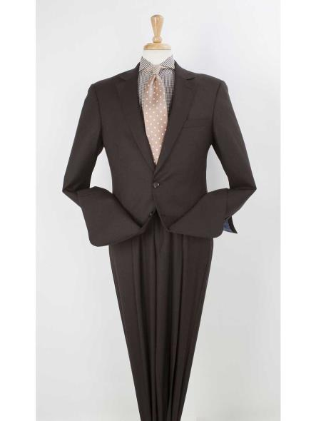 Mens Two Button Style brown Single breasted Wool Suit, act now only $199.00