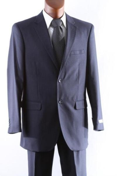 Two Button Style Mens Wool Fabric Suit In Navy, act now only $165.00