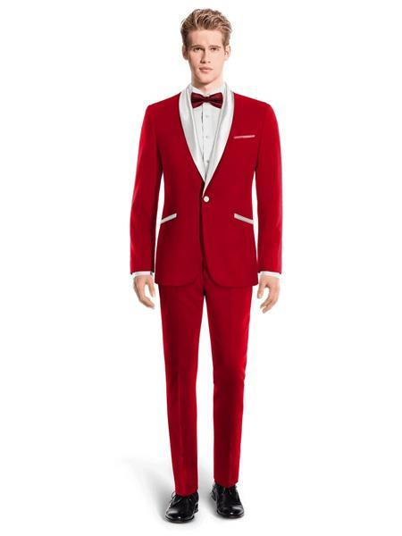 One Button Shawl Lapel Red and White Mens Tuxedo, act now only $450.00