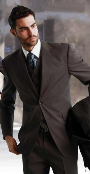 Two Button Three Piece Fabric Mens Suit In Grey, act now only $175.00