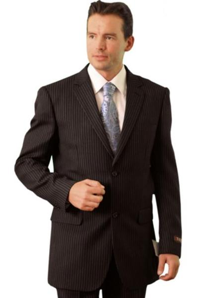 Mens Liquid Jet Black Three Button Style Suit, act now only $109.00