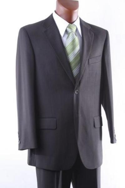 Two Button Style brown color shade Pinstripe  Mens Suit, act now only $170.00