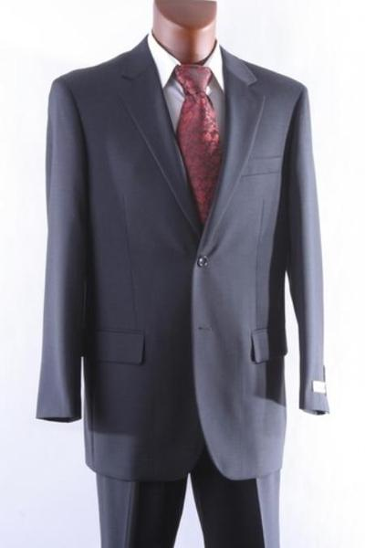 Two Button Style Dark Grey 100% Wool Suit For Mens, act now only $165.00