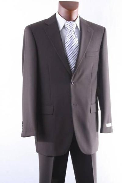 Brown Two Button Style Wool Fabric Suit For Mens, act now only $165.00