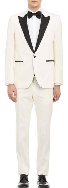 One Button Style  Ivory Peak Lapel Suits For Mens, act now only $495.00