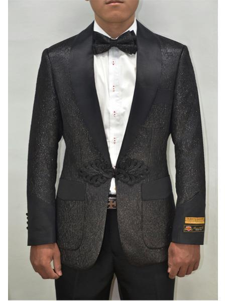 One Button Black Smoking Cocktail Mens Dinner Jacket, act now only $175.00