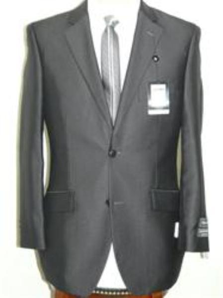 Mens Dark Grey Masculine Two Button Style Suit, act now only $129.00
