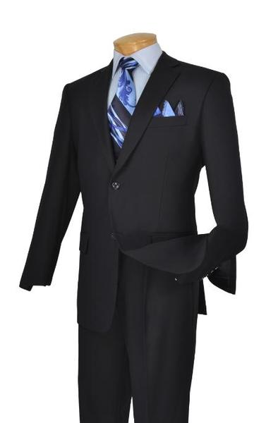 Two Button Style Navy Poly Rayon  Mens Suit, act now only $109.00