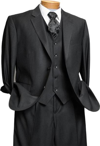 Two Button Style Black Italian Design Suit For Mens, act now only $175.00