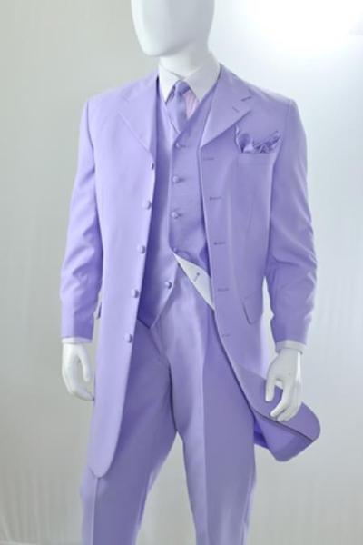 Mens Lavender Three Piece Long length Zoot Suit, act now only $135.00