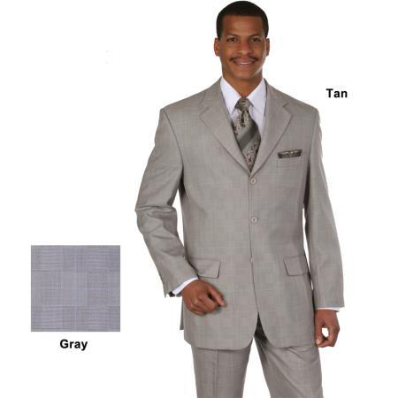 Mens Beige Fabric 120s Luxurious Wool Fabric Suit, act now only $119.00
