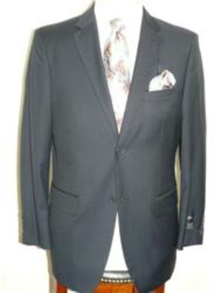 Solid Navy Blue Mens Shade Poly Rayon Wool Fabric Feel Suit, act now only $129.00