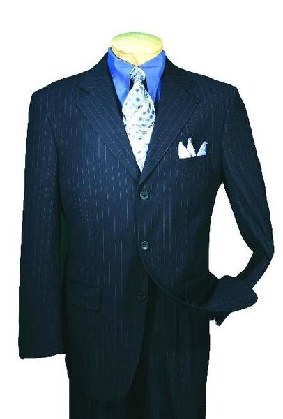 Mens Single Breasted Three Button Style Navy affordable suit, act now only $139.00