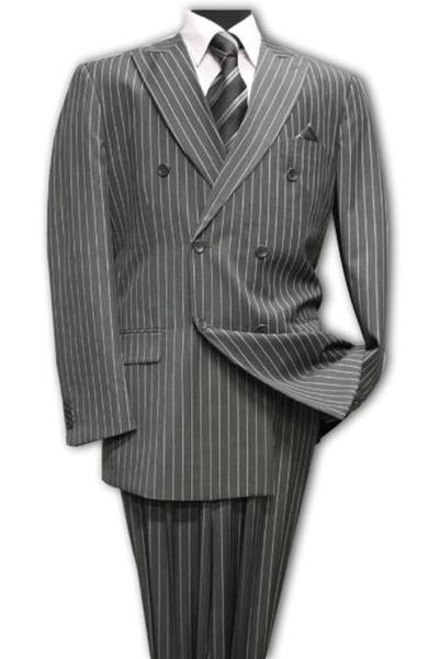 Charcoal Double Breasted with Pinstripe Suit For Mens, act now only $175.00