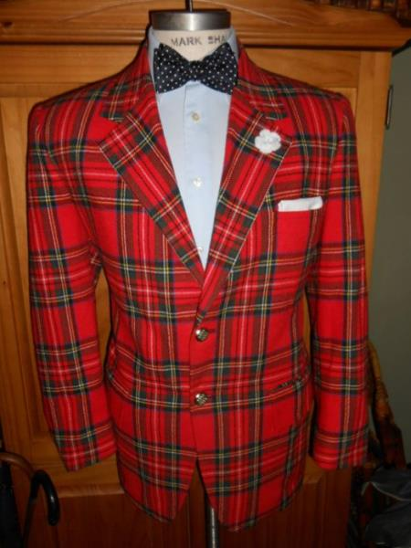 Men's Tartan One Button Fully Lined One Chest Pocket Suit, act now only $2000.00
