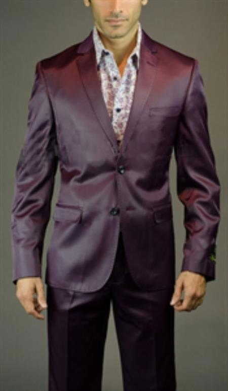 Mens Burgundy Slim Fit Suit, act now only $125.00