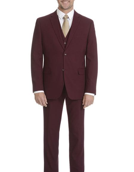 Mens Burgundy Slim Fit Suit, act now only $119.00
