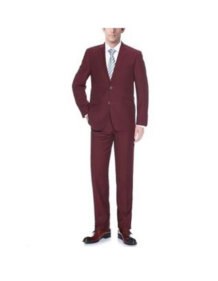 Mens Burgundy Slim Fit Suit, act now only $112.00