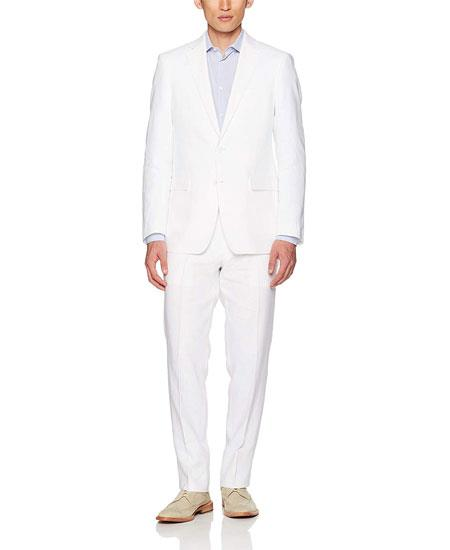 Mens White Linen Suit Separates Sale, act now only $190.00