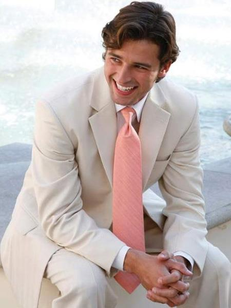 Mens Light Tan ~ Beige 2 Button Wedding Suit Separate Any Size Jacket & Pants, act now only $239.00