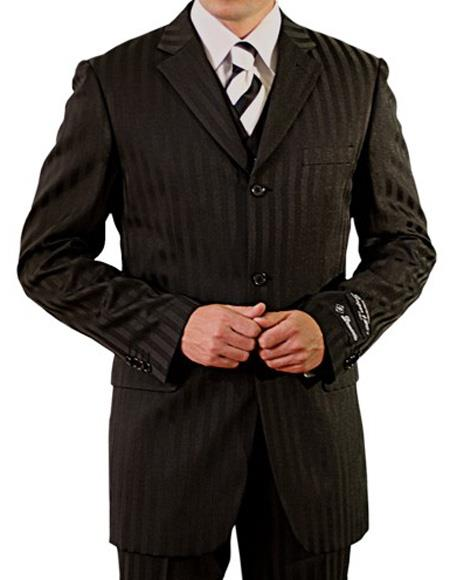 Men's Single Breasted Notch Lapel Three Button Vest Suit, act now only $1200.00