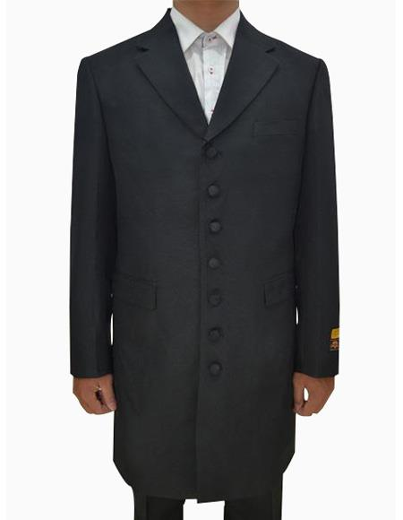Mens Black Single Breasted Seven Button Zoot Suits, act now only $159.00