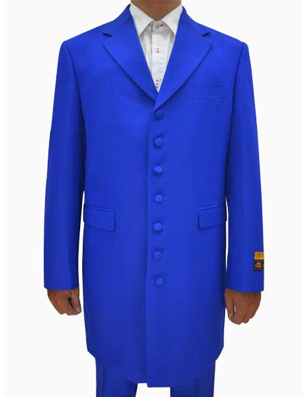 Mens Royal Single Breasted Seven Button Zoot Dress Suits for Men, act now only $139.00