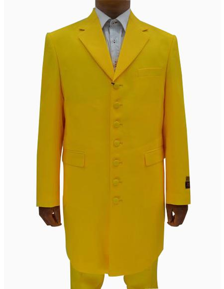 Mens Yellow ~ Gold ~ Mustard Single Breasted Seven Button Zoot Suits, act now only $149.00
